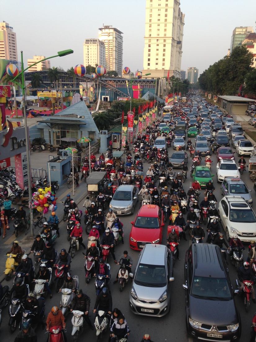 Typical rush hour mayhem