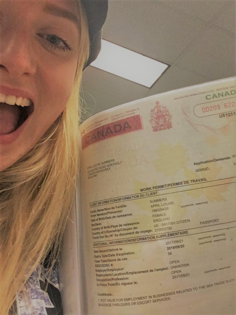 April Abroad Canada IEC Visa