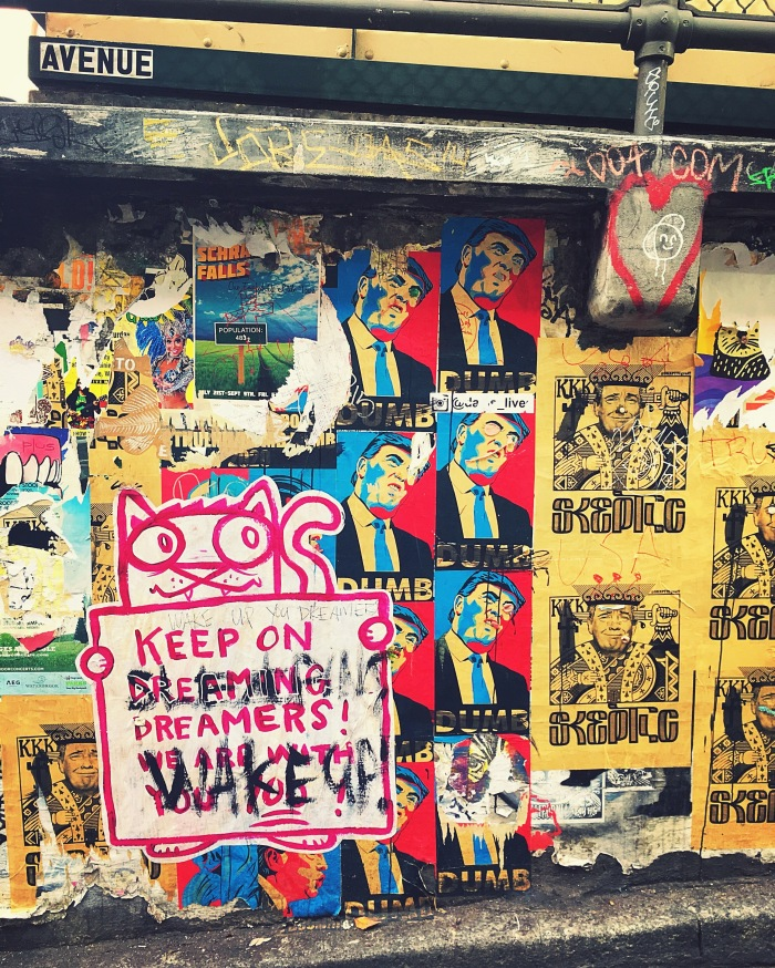 Seattle Pike Market April Abroad Donald Trump Graffiti