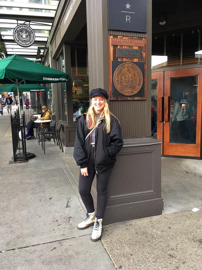 April Abroad Seattle Starbucks Pike Market
