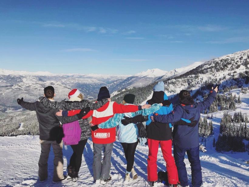 April Abroad Group Photo Whistler Mountain